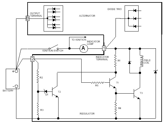 Hitachi 1 Wire Alternator Diagram on lucas wiring diagrams