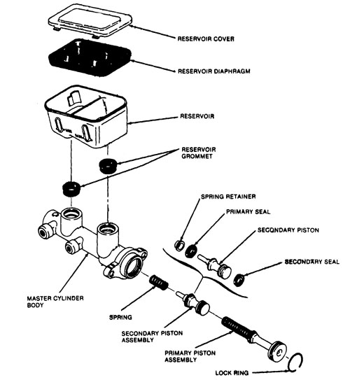 ford tempo master cylinder diagram  ford  auto parts