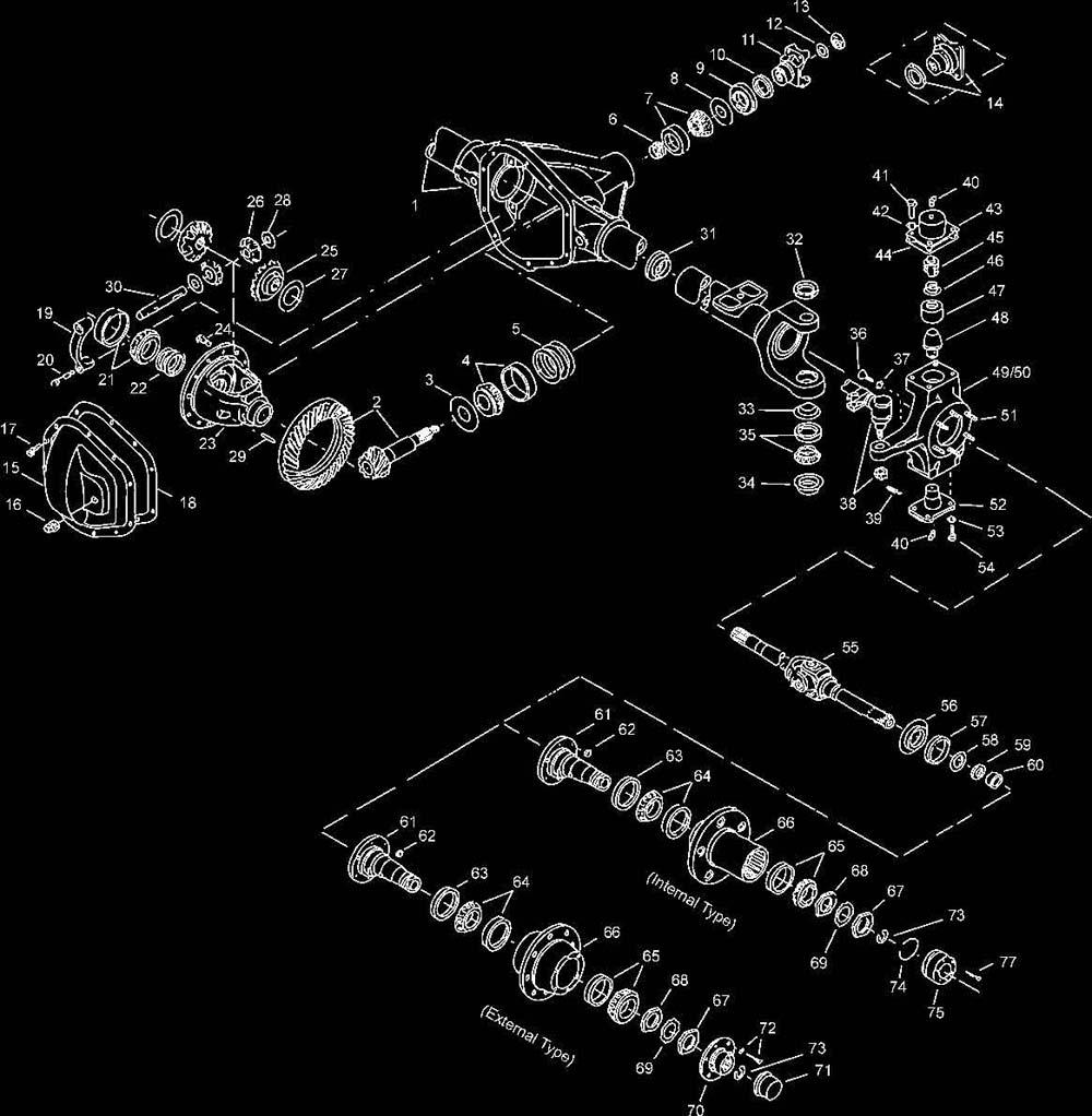 front end suspension parts diagram 1996 chevy blazer front axle 4wd